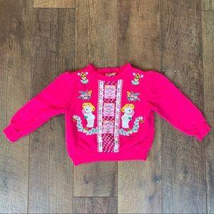 Other - Teddy bear vintage kids girls sweatshirt 80s